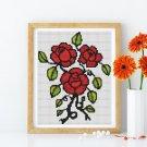 Three Roses Cross Stitch Chart