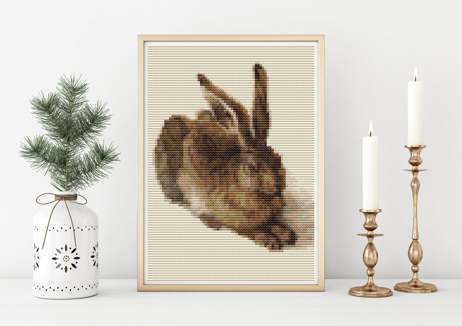 The Young Hare Mini Cross Stitch Chart by Albrecht Durer