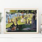 A Sunday Afternoon Mini Cross Stitch Kit by Georges Seurat