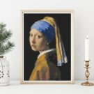 The Girl with the Pearl Earring Mini Cross Stitch Chart by Johannes Vermeer