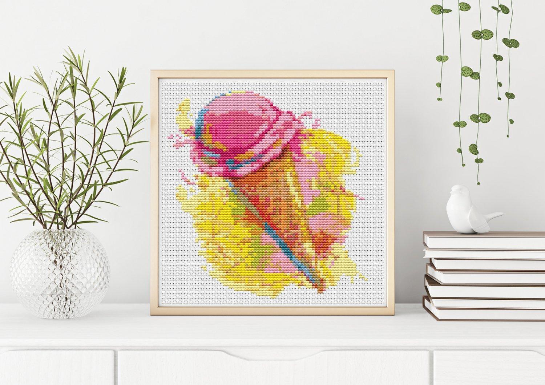 Kitchen Series: Ice Cream Cross Stitch Kit