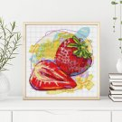 Kitchen Series: Fresh Strawberries Cross Stitch Kit