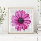 Flower Series: Purple Gerbera Cross Stitch Kit