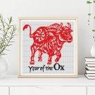 Chinese Zodiac: Year of the Ox Cross Stitch Kit
