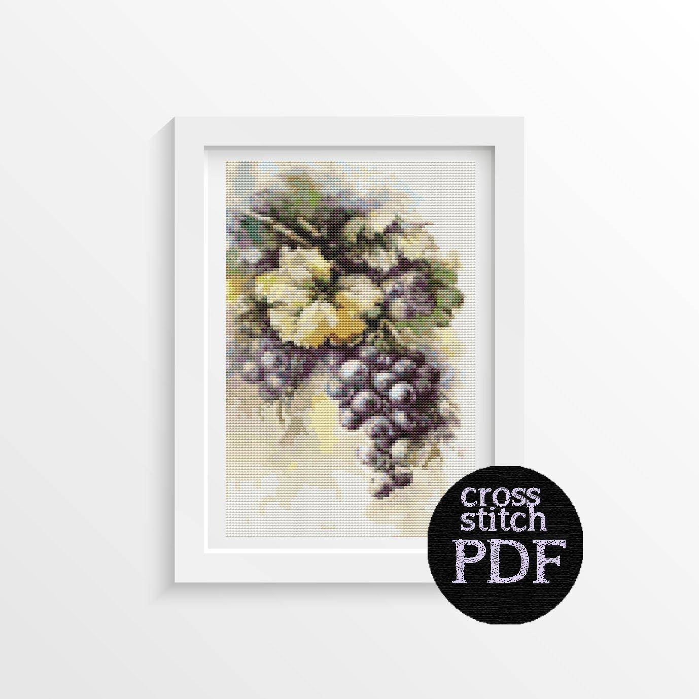 Grapes Cross Stitch Pattern PDF by Catherine Klein