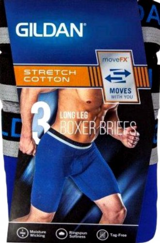 Gildan long legs brief men`s 3-pack size Small