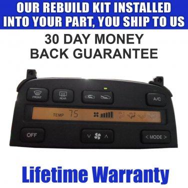 LS400 SC300 SC400 CLIMATE CONTROL REPAIR SERVICE NEW LCD & BULBS READ LISTING