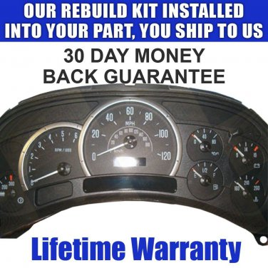 03 04 ESCALADE CLUSTER SPEEDOMETER REPAIR SERVICE STEPPERS LIGHTING READ LISTING
