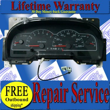 99 00 01 02 03 FORD WINDSTAR CLUSTER SPEEDOMETER REPAIR SERVICE READ LISTING