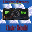 01 02 LINCOLN TOWNCAR CLUSTER REPAIR SERVICE READ LISTING