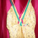COOGI yellow& gold full length strappy dress new no tags
