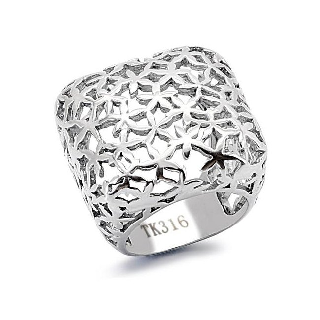 Modern High Fashion Lattice Ring ~ Stainless Steel