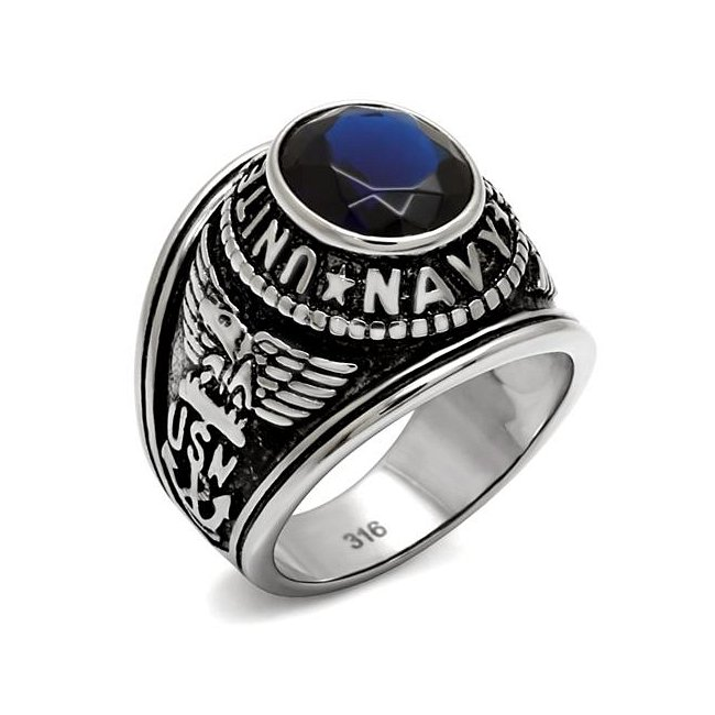 United States Navy Montana Blue Military Ring ~ Stainless Steel