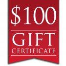 $100.00 E-GIFT CERTIFICATE FROM THE FUN SHOPPE