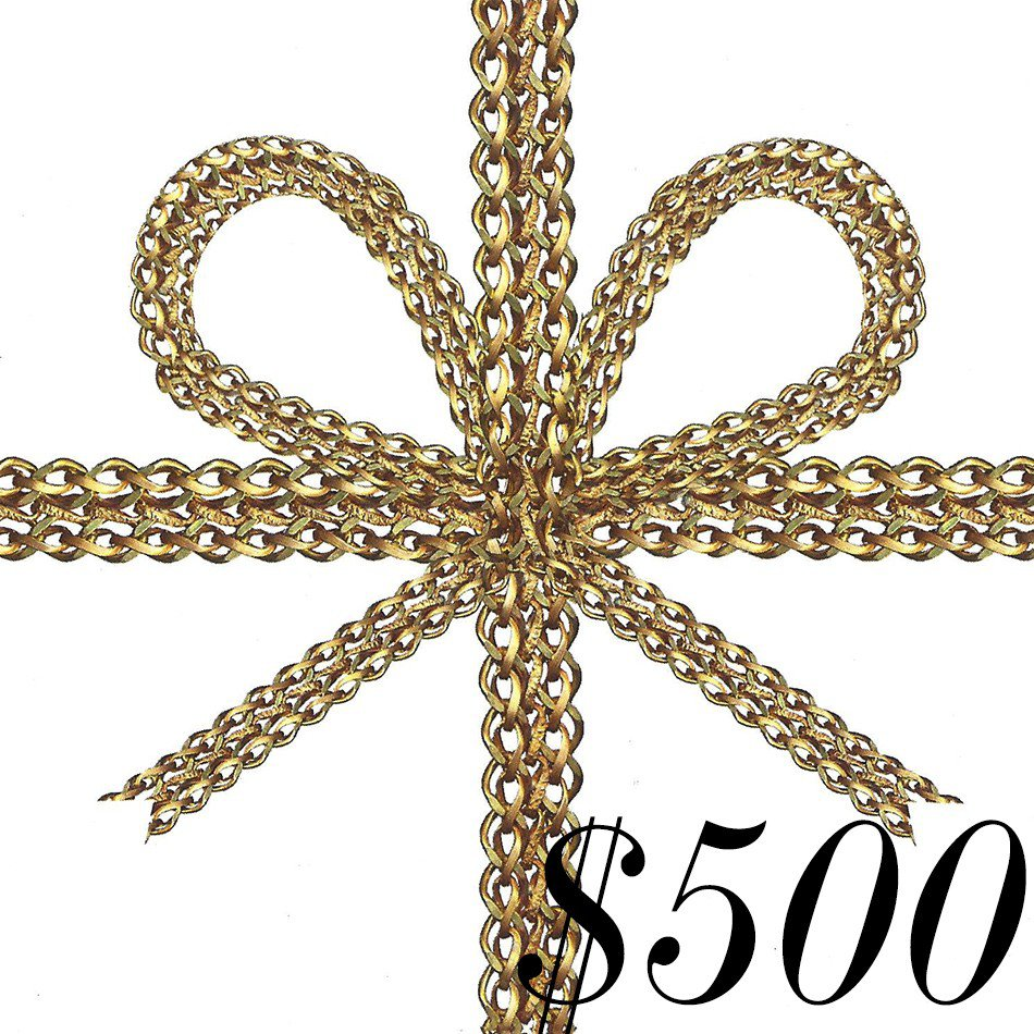 $500.00 E-GIFT CERTIFICATE FROM THE FUN SHOPPE