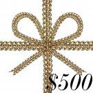 $500.00 E-GIFT CERTIFICATE FROM THE FUN SHOPPE