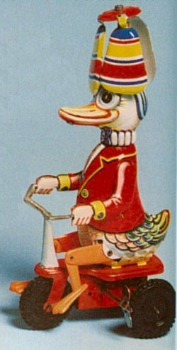 German Tin Duck on Tricycle