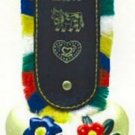 Large Cow Bell with Colored Strap
