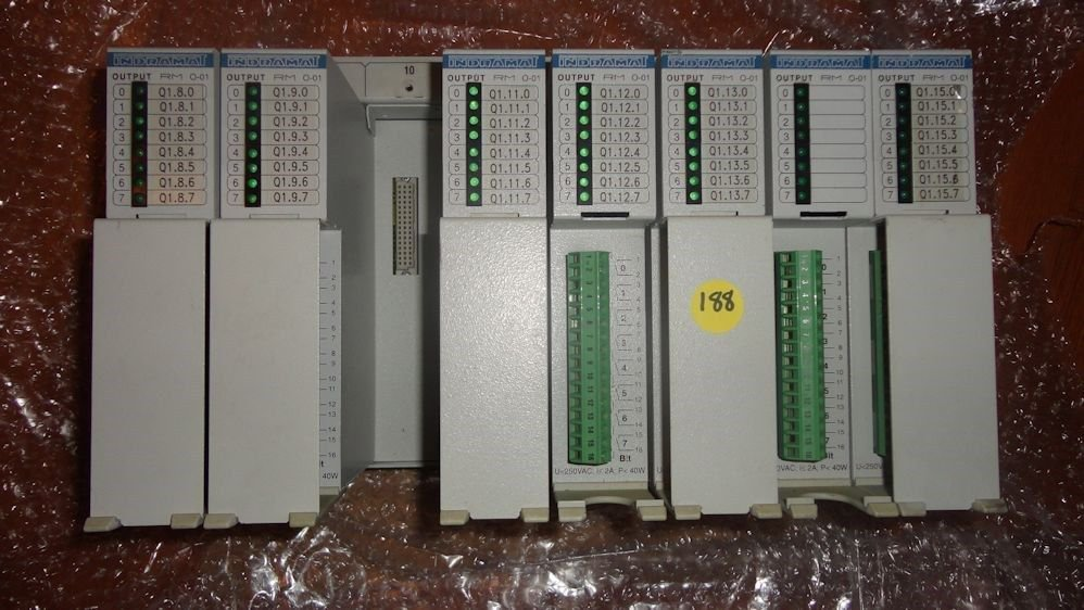 Indramat RECO-E.00/01 243074 RM O-01 RM 0-01 RM I-01 RM 1-01 PLC Rack w/Warranty