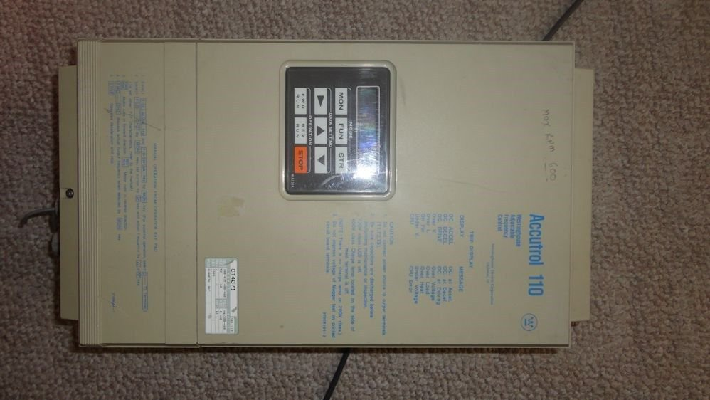 Lots 2 Westinghouse Accutrol 110 AC Drive 7.5 HP 13 AMP VFD CT4071