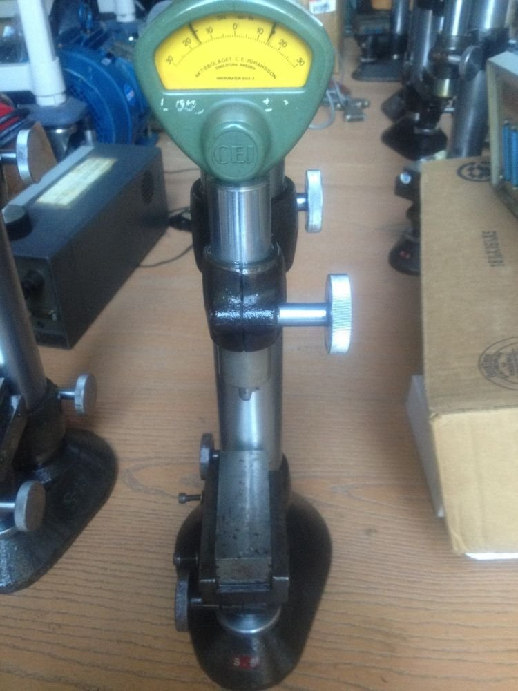 C.E. Johansson Mikrokator 510 E- 5 Comparator with Fine Adjust Stand, .00002