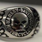 Harley Davidson Willie Skull ring