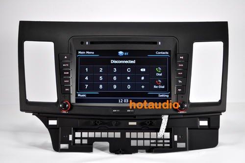 Mitsubishi LANCER GPS Radio TV V-CDC, support 3G WiFi DVR, HD 1080P with actual USA map