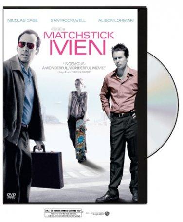 Matchstick Men on DVD; 2004 drama-comedy; Nicolas Cage