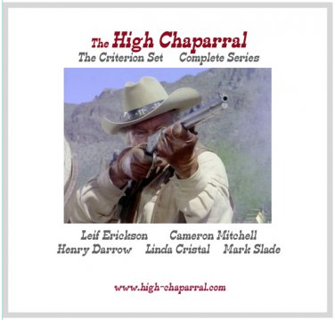 The High Chaparral ~ CRITERION GIFT COLLECTION ~ COMPLETE SERIES~ All 4 Seasons on 49 DVDs