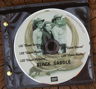 BLACK SADDLE: The Complete 1959-1960 TV Series on 10 DVDs ~ Peter Breck and Russell Johnson