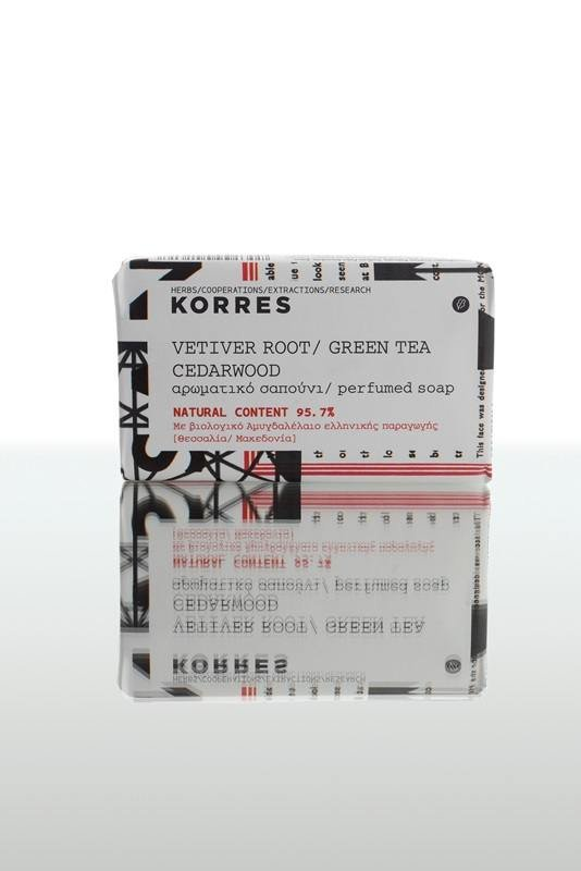 Korres Vetiver Root/Green Tea/Cedarwood Perfumed soap 125mL