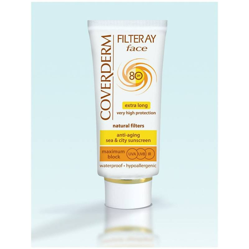 Coverderm Filteray Tinted Face Cream SPF80 Light Beige 50ml