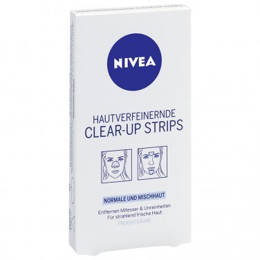 NIVEA CLEAR-UP FACE STRIPS FOR BLACK SPOTS 6PCS