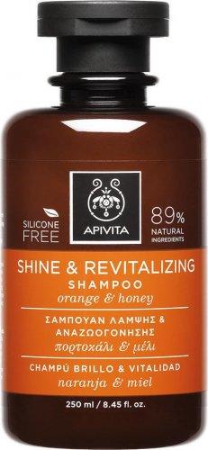 Apivita Shine & Revitalizing Shampoo 250ml With Orange & Honey