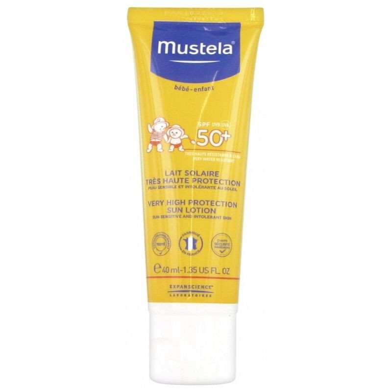 Mustela Lait Solaire Visage SPF50+ 40ml Kids Face Sun Lotion