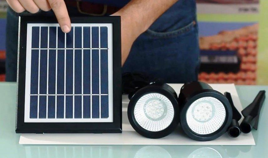 Professional garden Solar Spotlight 24 LED Decorative Yard Outdoor Lights- warm white
