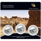 2012 US Mint America The Beautiful 3 Coin Set Chaco Culture Nat. Historical Park
