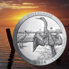 2014 5 Oz US Mint .999 Silver America Beautiful Everglades 25c Coin Uncirculated