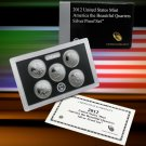 2012 U.S. MINT AMERICA THE BEAUTIFUL 5 COIN SILVER PROOF QUARTER SET W/COA