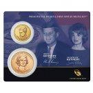 2015 US Mint John F. Kennedy Presidential $1 Dollar Coin & 1st Spouse Medal Set