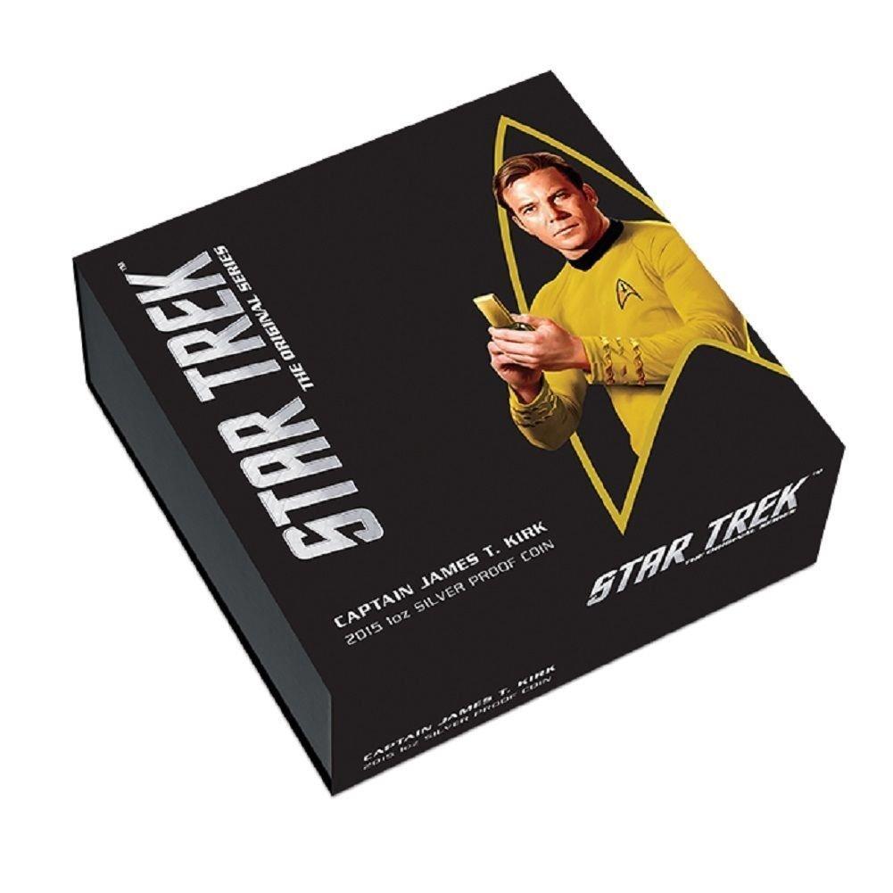 2015 P Star Trek Captain Kirk Signed 1oz .999 Silver Proof Coin NGC PF70 ER