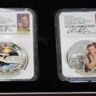 2015 Star Trek Proof Silver 2 Coin Set Signed By William Shatner NGC PF70UC ER