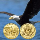 2008 US Mint Commemorative Proof Bald Eagle $5 Gold 1/4 Oz Coin With Box & COA