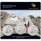 Lot Of 5 Sets 2013 P D & S US Mint Mount Rushmore ATB Quarters 3 Coin New & Sealed W COA