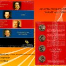 2012 P&D US MINT SEALED PRESIDENTIAL 8 COIN UNCIRCULATED DOLLARS SET