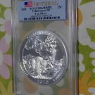 2010 America The Beautiful Yellowstone 5 Ounce .999 Silver Coin  PCGS MS69 DMPL First Strike