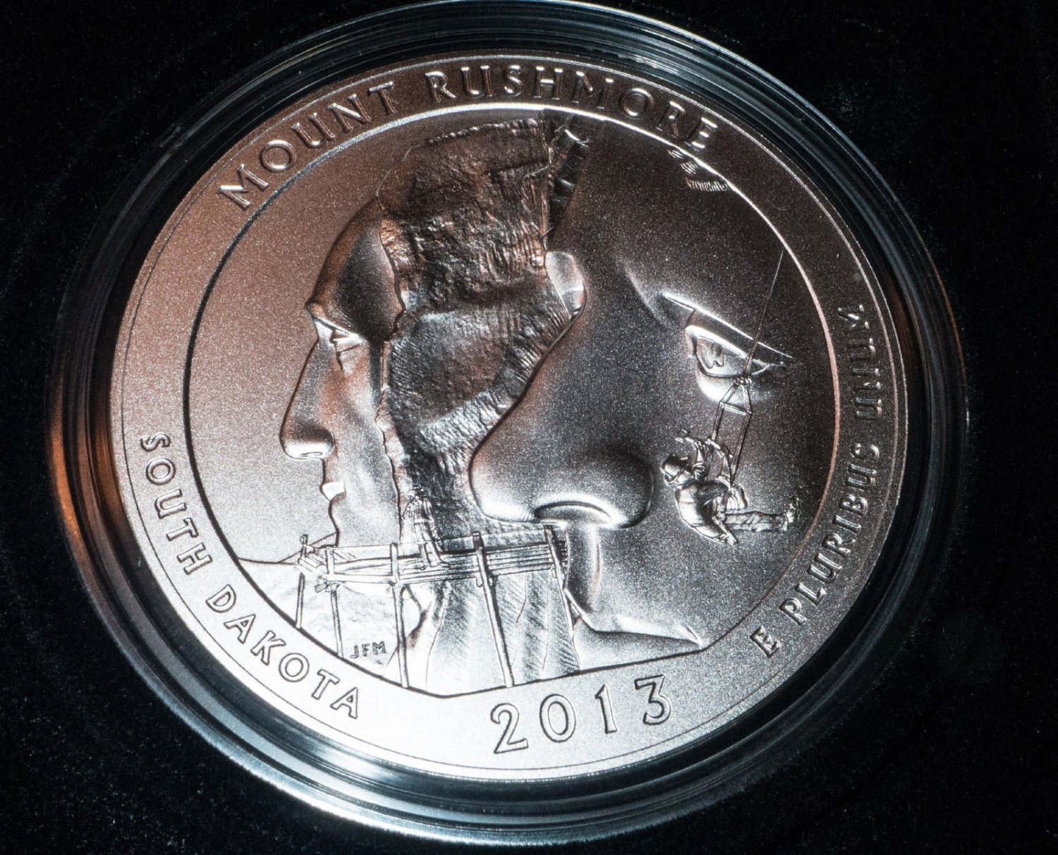2013 P America The Beautiful Mount Rushmore 5 Oz Silver Uncirculated Collectors Issue Coin