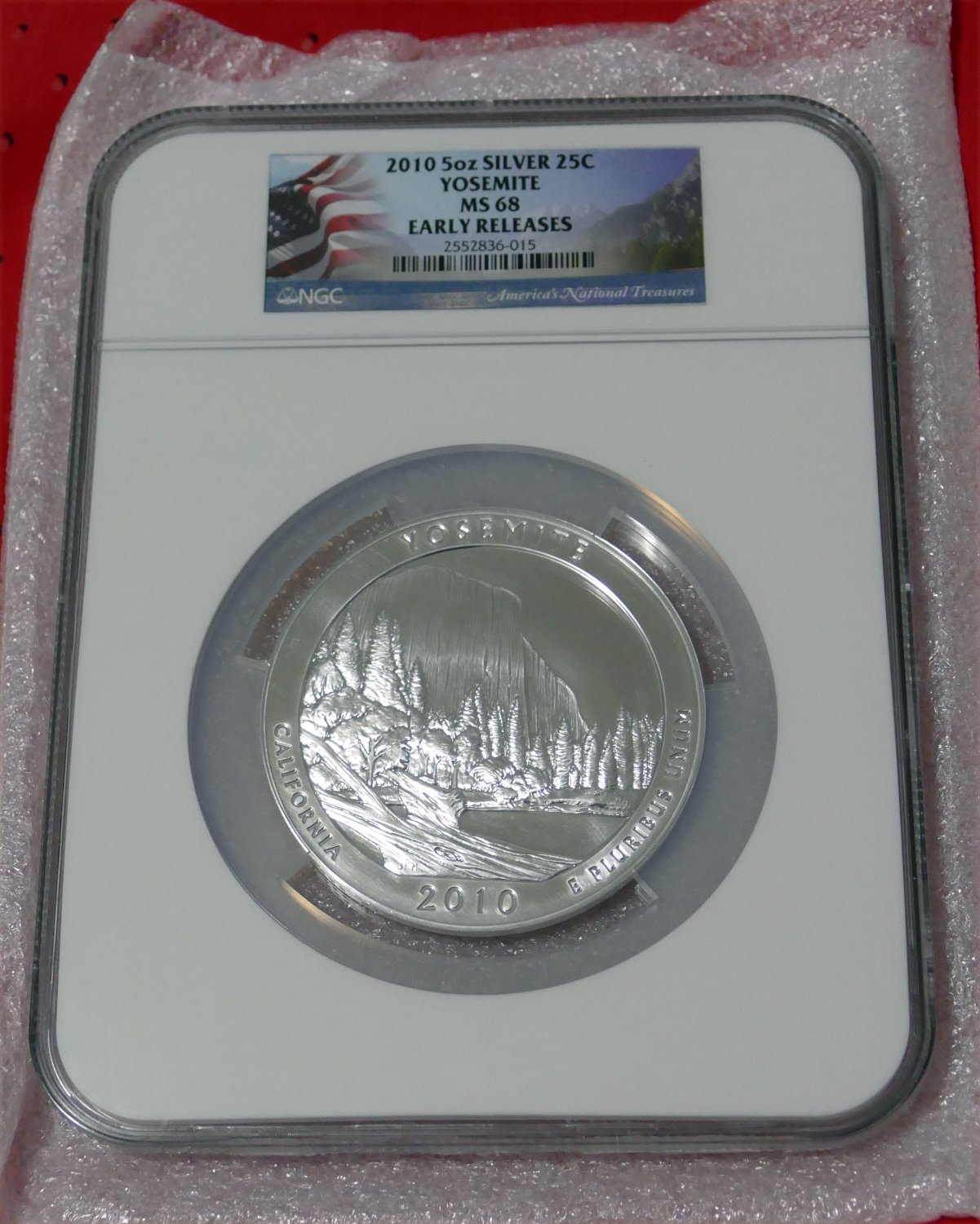 2010 5 oz Silver ATB Yosemite NGC MS69 Early Release