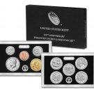 2017-S US Mint 225TH Anniversary Uncirculated ENHANCED 10 Coin Set Wth Box & COA