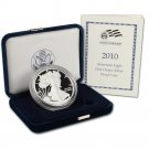 2010 W American Silver Eagle Proof With US Mint Box & COA